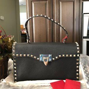 New valentino rockstud top handle crossbody bag